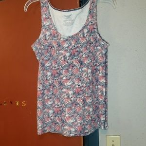 FADED GLORY RED WHITE BLUE TANK Size XL(16-18)